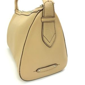 COLE HAAN Butter Pebbled Leather Handle Satchel